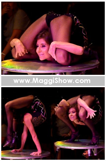 Contortionist Magdalena Stoilova in Basel